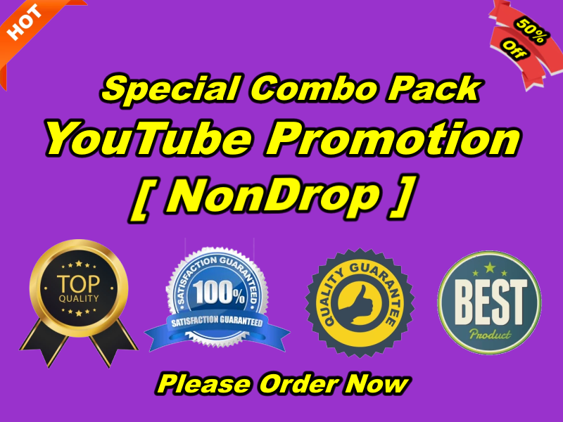 Special Combo Pack for Worldwide Or Targeted YouTube Promotion Non-drop