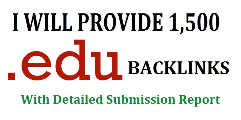 Get 1500. EDU high authority backlinks