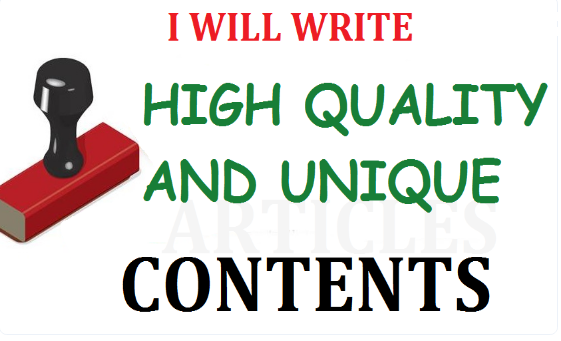 I will write Unique Articles/Contents for your Site or Blog Offline too. SEO Friendly Pro Writer