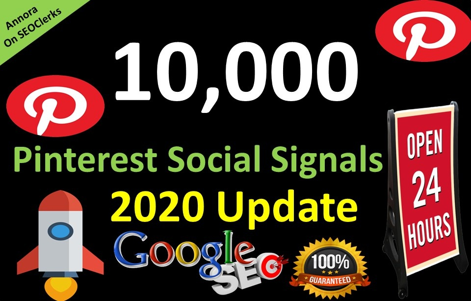 10,000 Pinterest LifeTime USA share social Signals important for SEO Ranking