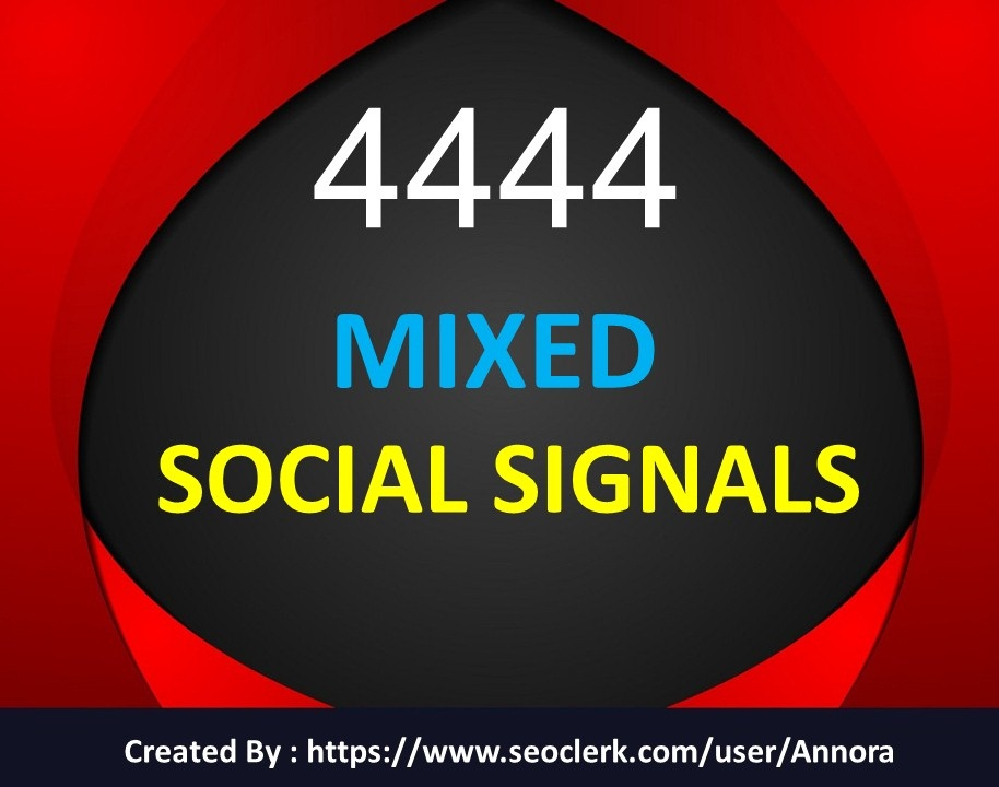 Social Signals Custom OFFER 20 Discount for new users