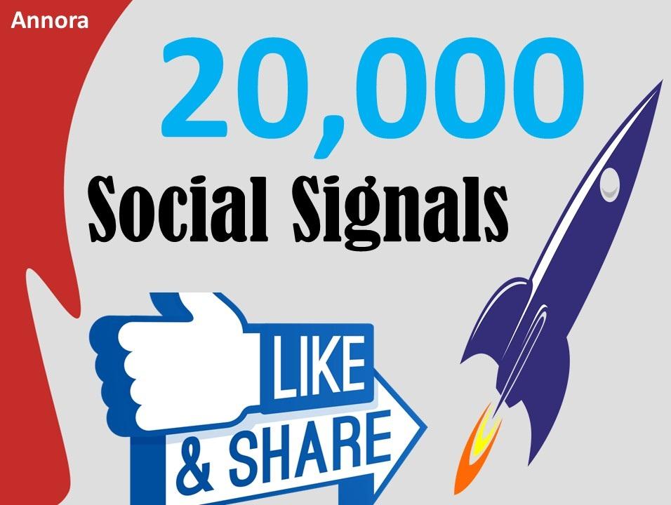 Cheap Price 20,000 Social Signals Come From Top 1 Social Media Sites PR9 Facebook Social Bookmark