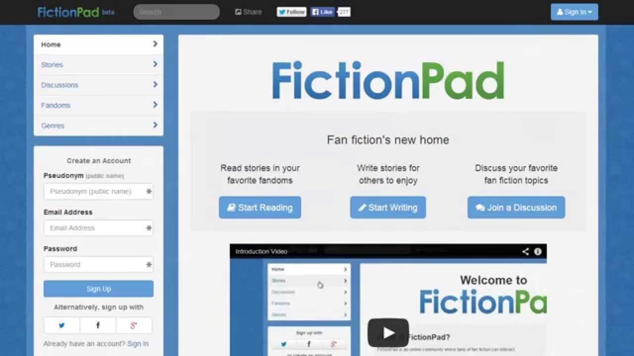 Write & Publish Guest Post on Fictionpad High quality Backlinks
