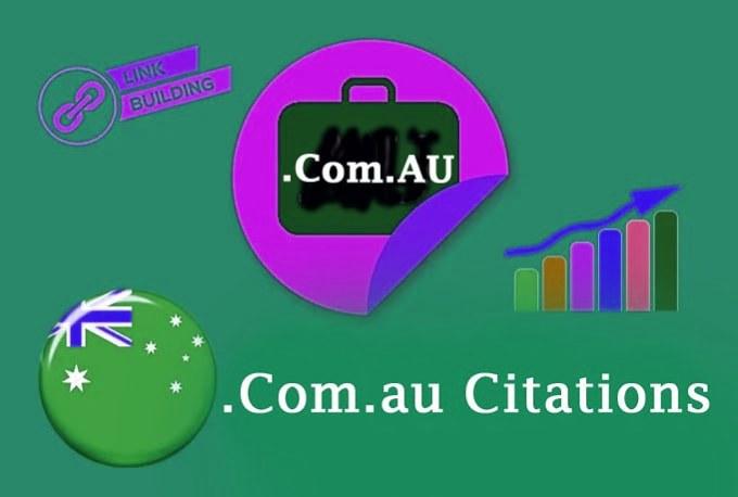 I will provide 30 australian com au domain links,  backlinks 10 USD
