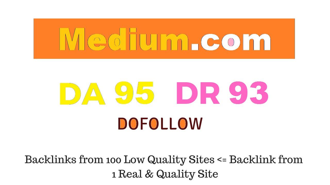Write and Publish Guest Post On Medium. com - DA95 DR93