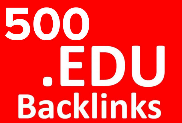 High quality 500 edu backlinks for google search ranking