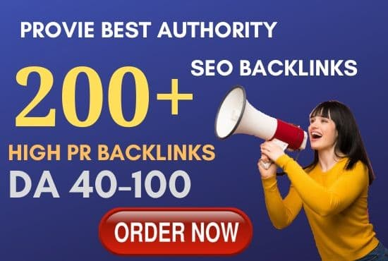 premium 200 high pr seo service authority backlinks, link building