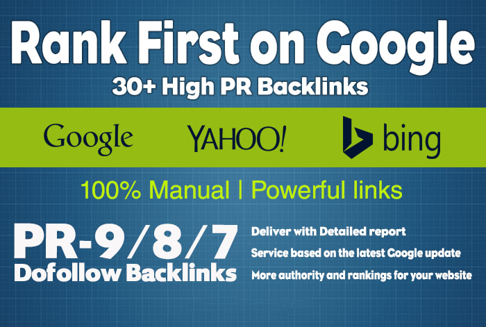 Homepage 30 high PR dofollow backlinks