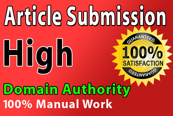 Do Top 50 Article Submission On High DA PA Backlinks