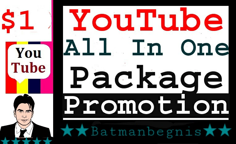 YouTube Promotion Package All In One Service Completed