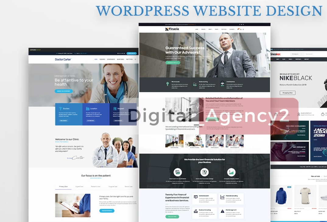 design professional business wordpress website