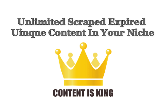 scrape unique articles from expired domains per niche and language