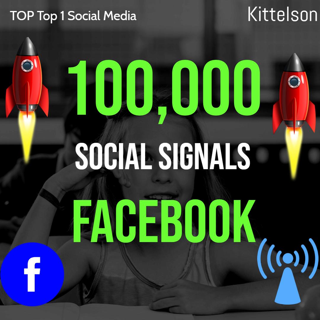 100,000 Social Signals Come From Top 1 Social Media Sites