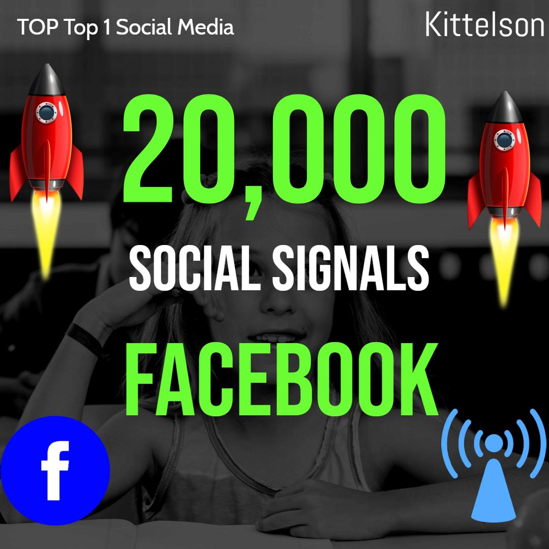 20,000 Social Signals Come From Top 1 Social Media Sites