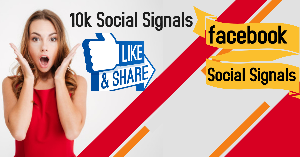 10,000 Social Signals Come From Top 1 Social Media Sites