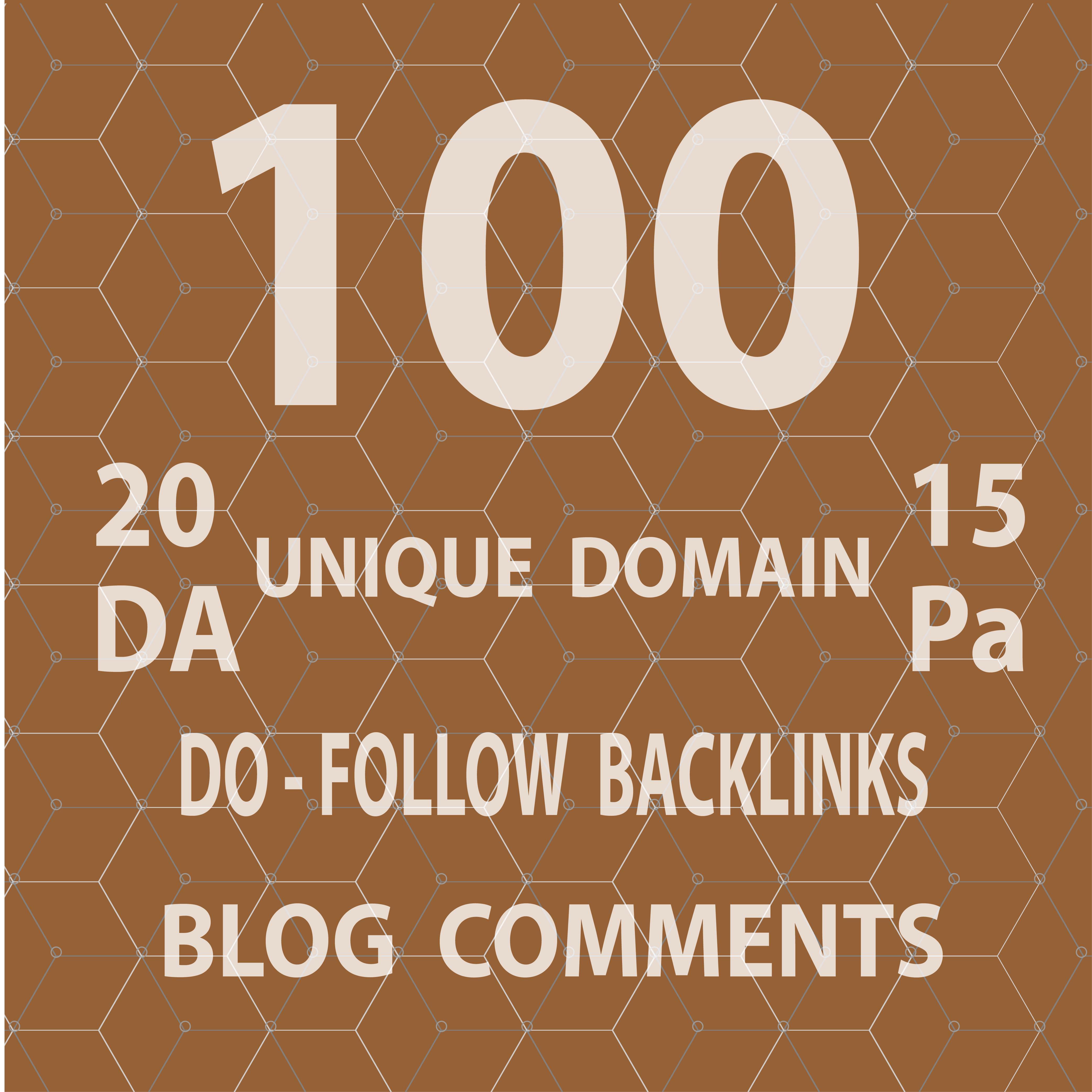 Provide 100 Dofollow blog comment backlinks