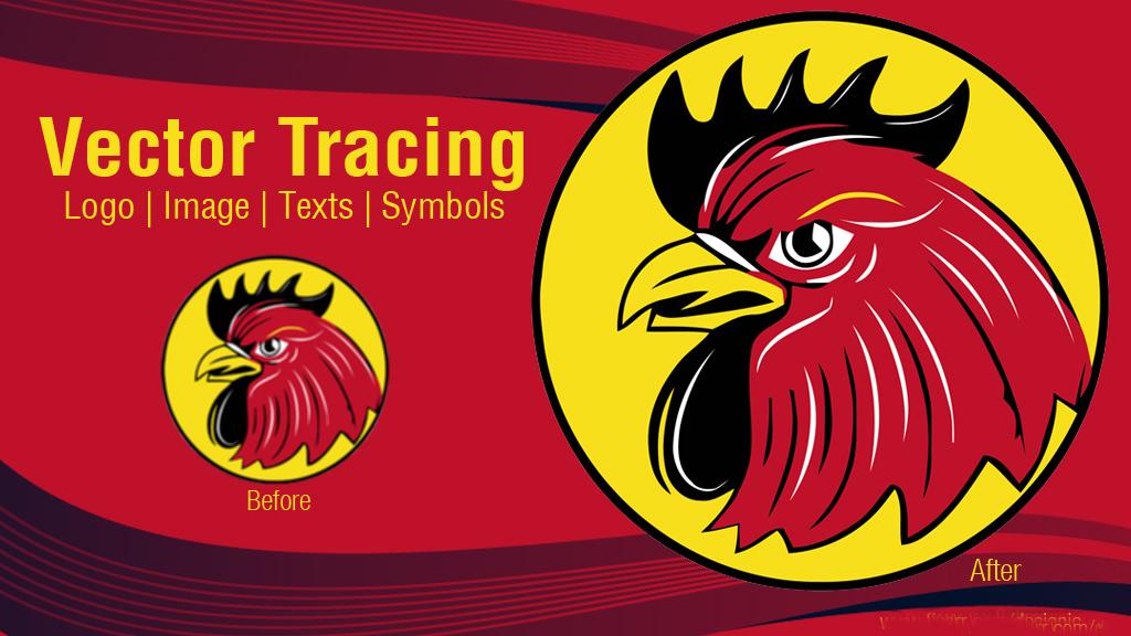 I will do vector tracing,  vectorize logo,  convert image to vector
