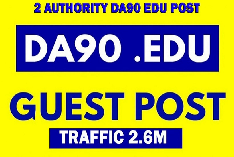 Guest post on 2 Quality DA90+ Traffic 2.6M blog