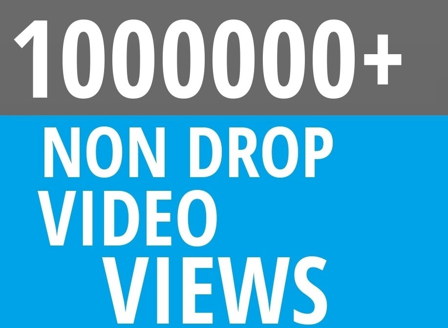 Add Fast 1 MILLION High Quality Social Video Views Fast and Stable Lifetime