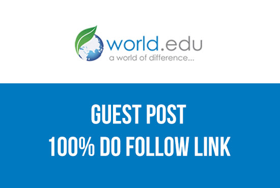 Publish a guest post on World EDU Blog - World. edu