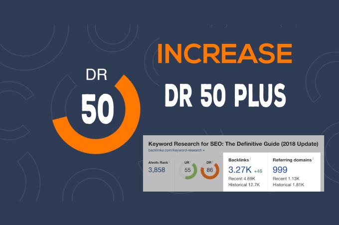 increase Ahrefs Domain Rating DR 50 plus Guaranteed