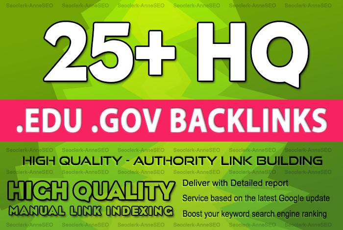 25+ Edu/Gov High Quality Backlinks