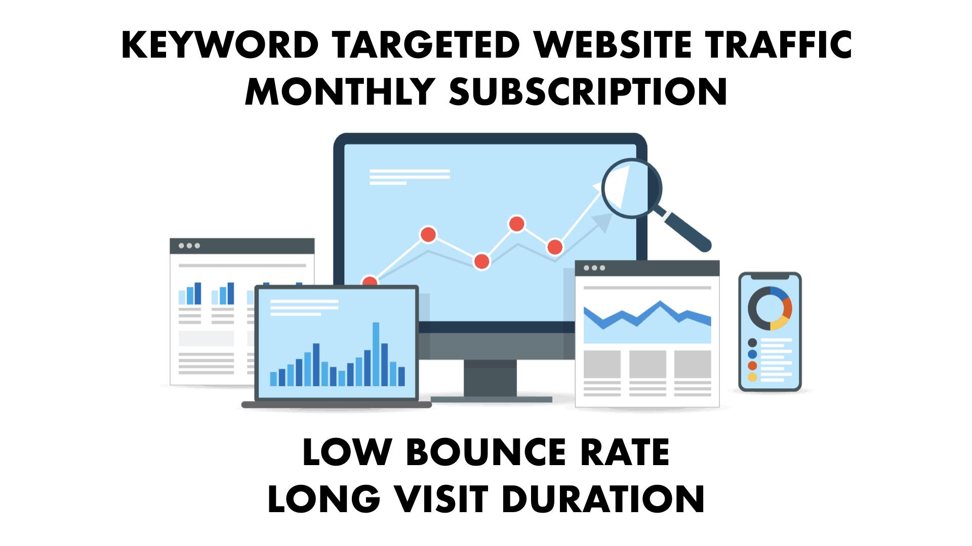 10000 Keyword targeted SEO optimized traffic