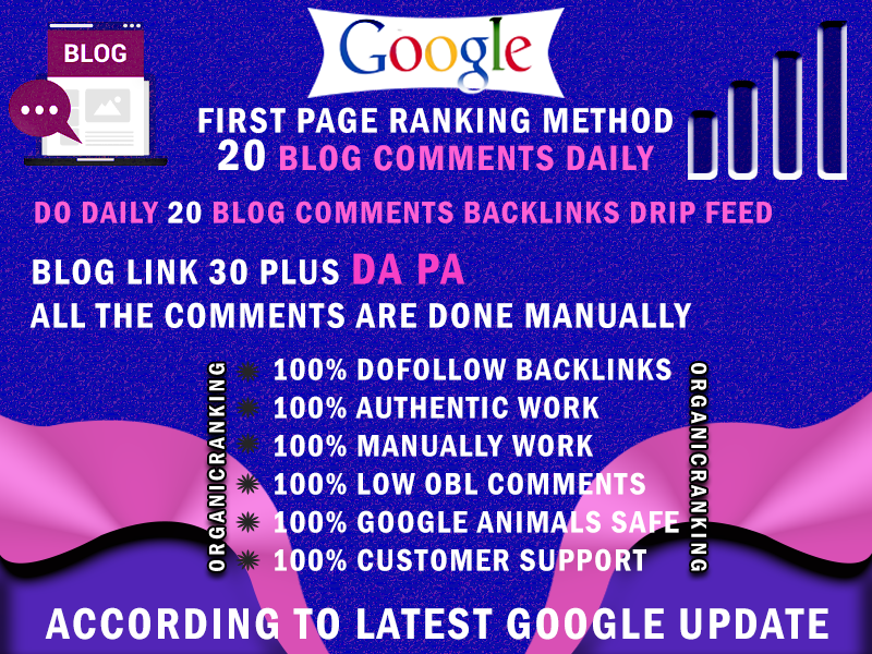 Create By Hand Daily 20 Do-follow Back-links,  PR2 For You to PR6 - Get Your Site To Google Page 1