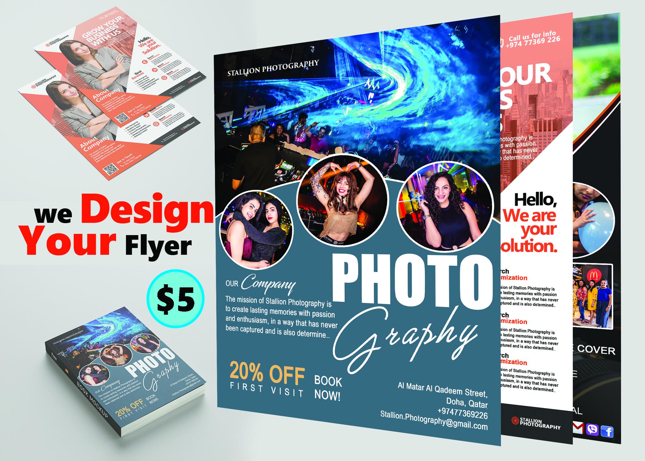 Design your flyer,  Facebook,  Youtube Banner