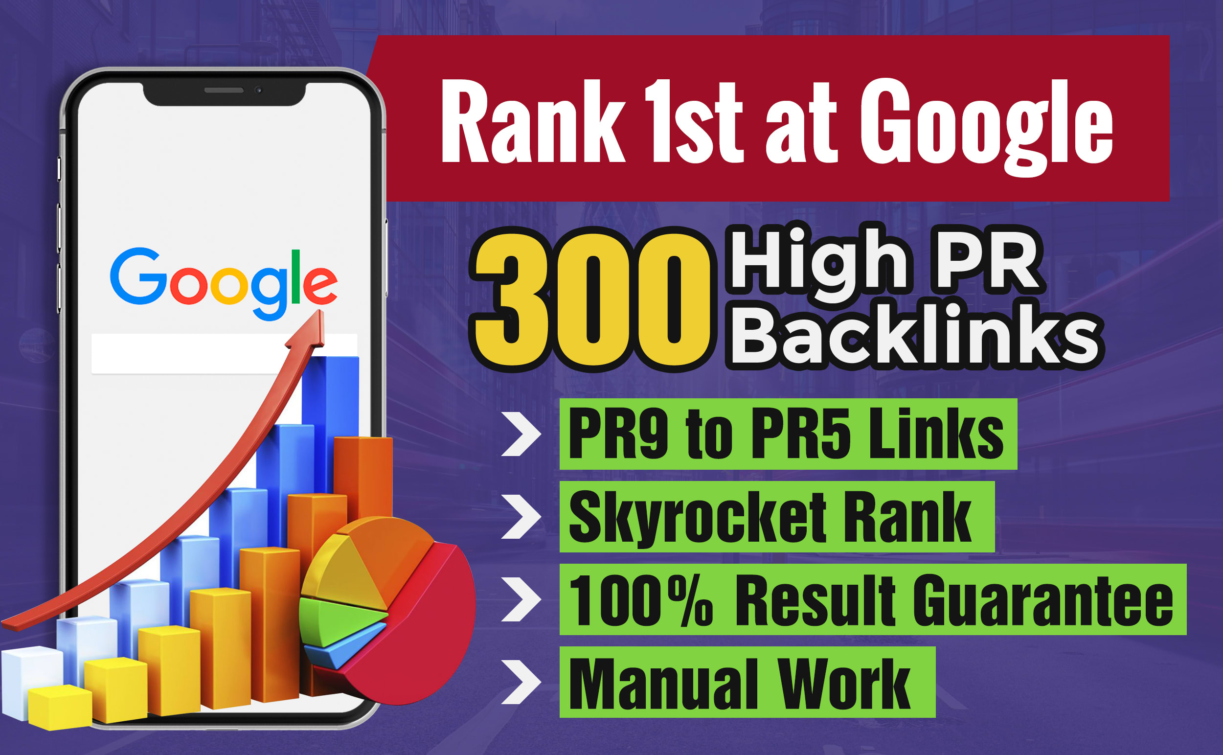 do rank one at google with 300 high pr backlinks