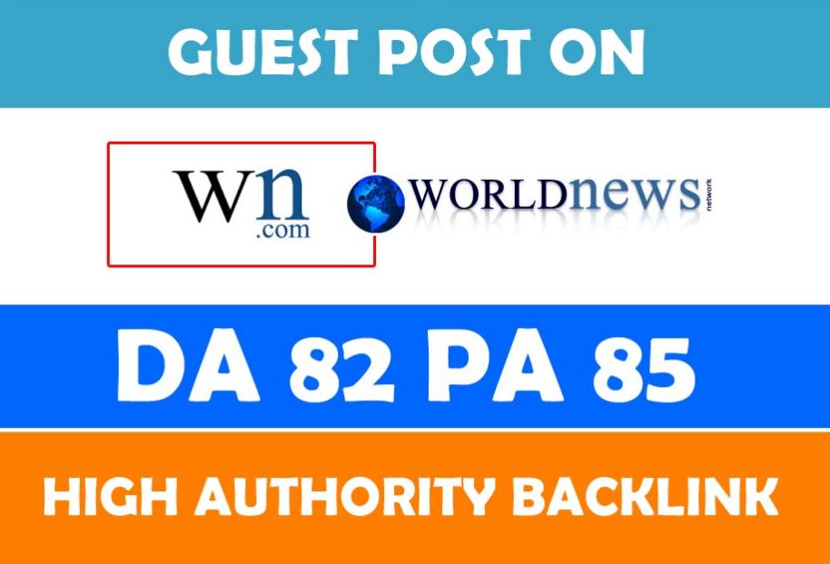 I can publish indexed content on worldnews. com WN. com DA-82