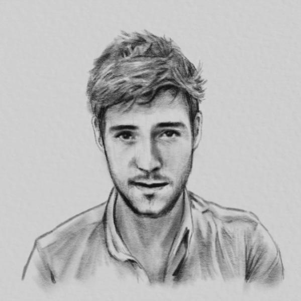 I will draw your portrait into digital pencil sketch