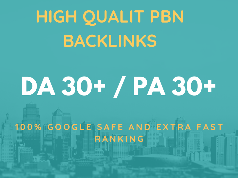 I will provide you high authority pbn backlinks da pa 30+
