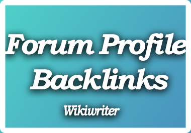 Create Permanent 150+ Forum Profile Backlinks with user credit for fast SEO Ranking Solution