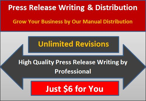 I will write a killer press release and distribute to 25 sites