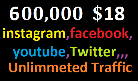 Real+600,000 Website Worldwide Traffic Instagram,Facebook,twitter,YouTube, High Quality Traffic