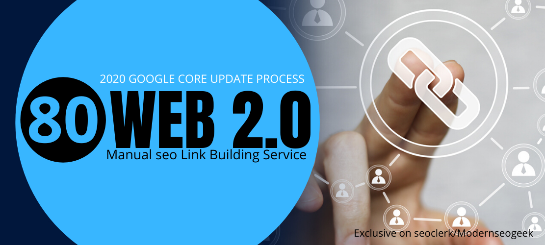 I will do 80 permanent web 2.0 contextual seo backlinks,  manual link building work
