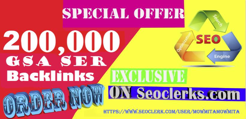 200,000 Gsa Ser Backlinks For Ranking Website in Google