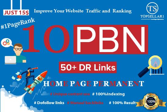 Provide High Pr 10 PBN Backlinks Homepage Permanent Links dr 50 to 60 backlinks