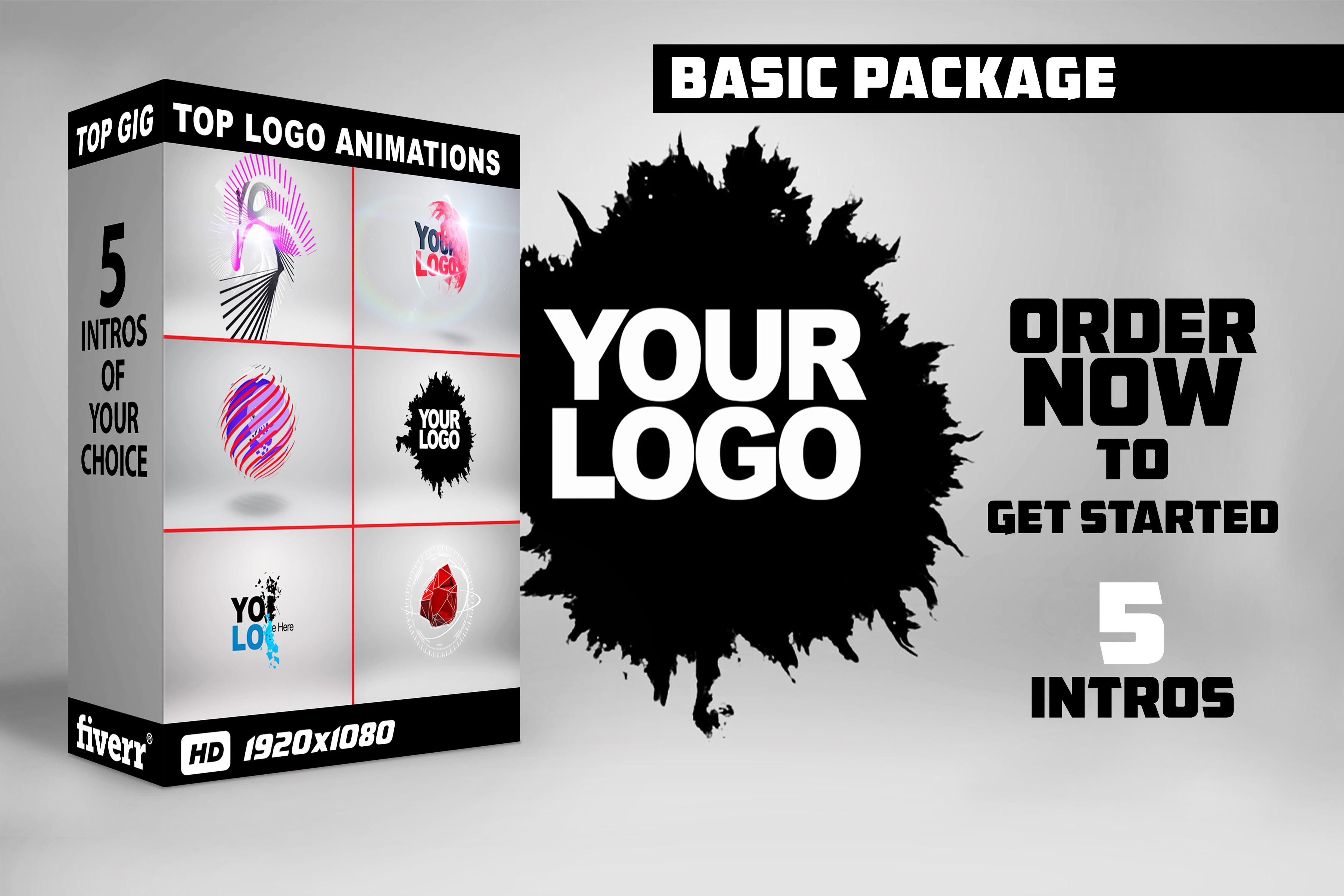 Create 5 Swesome Animated Logo Intros