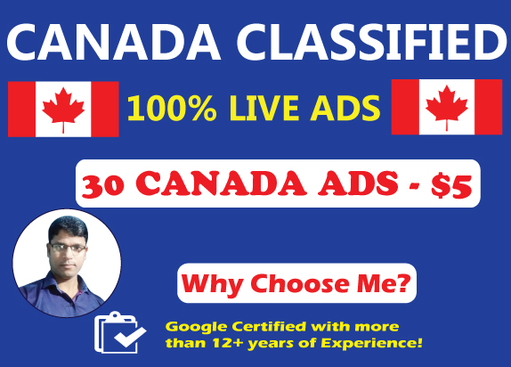 30 High Authority Canada Classified Ads Posting