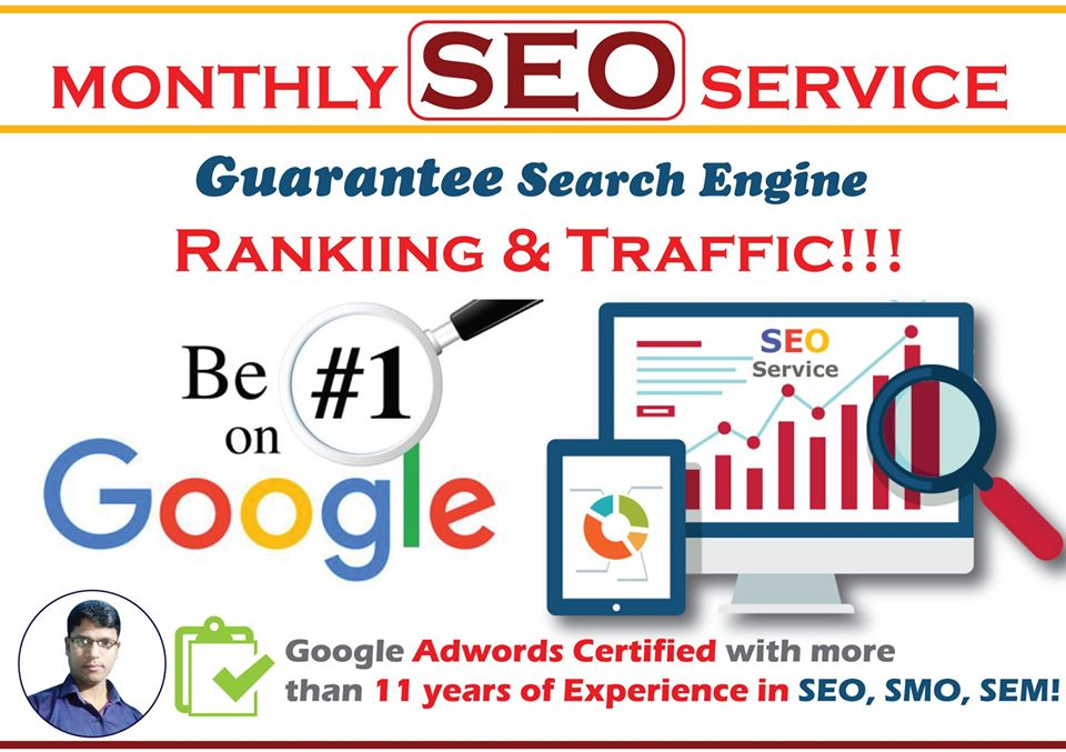 Monthly SEO Service for 10 Keywords - Guaranteed No.1 Ranking