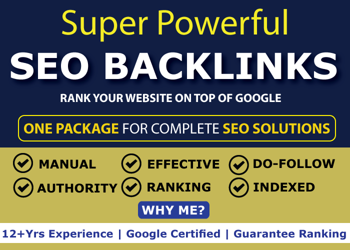 Super Powerful SEO Backlinks to Skyrocket Your Google Ranking