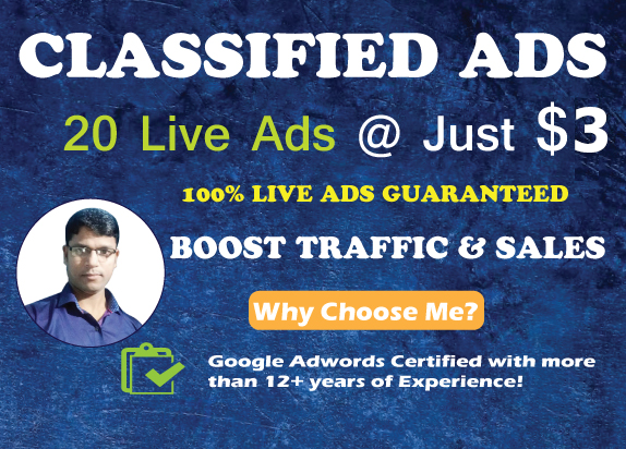 20+ High DA/PA Classified Ads for More Traffic & Sales