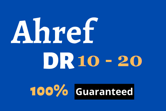 I will increase domain rating Ahref DR 10 to 20