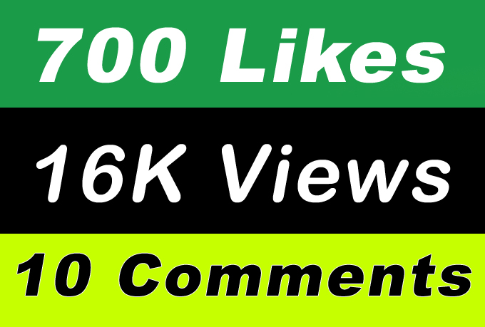 World Wide 16,000 Video Views Promotion Or 700 Likes Or 10 Comments for Social media Marketing