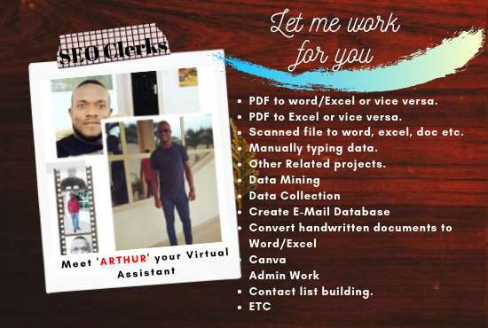 From Data Entry,  Web Research And Be Your Professional Virtual Assistant
