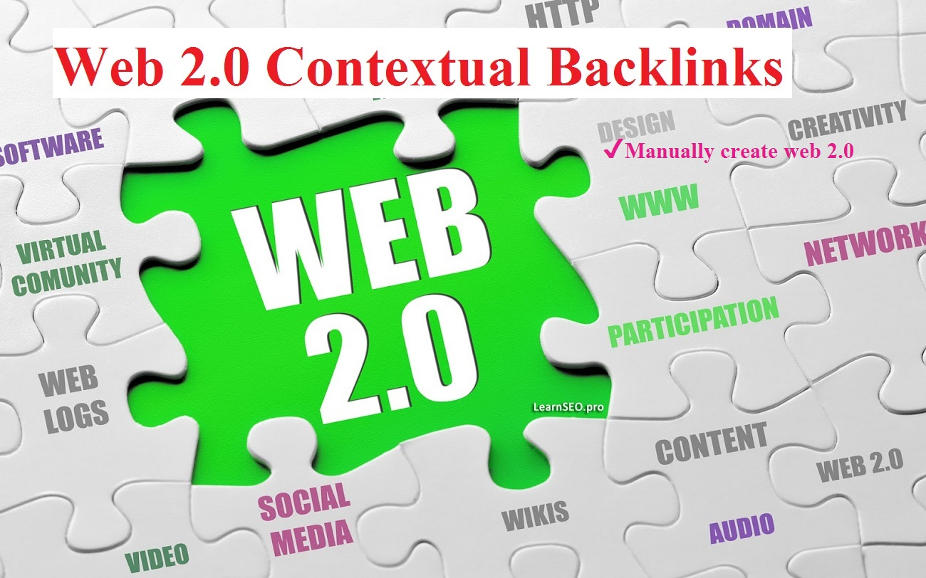 High Authority WEB 2.0 Properties Contextual Profile backlinks with login