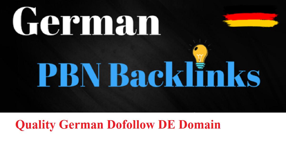 will do German DE Dofollow DA90+ backlinks,  deutsche SEO german niche