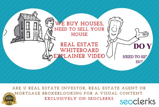 Design We Buy Houses Real Estate Investor Whiteboard Explainer Video